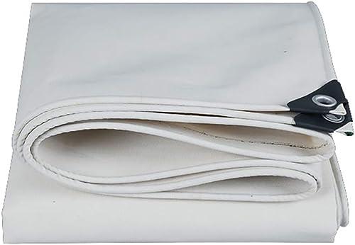 GLP Toile Crème Solaire Imperméable épaisse Chaude Et Résistant à l'usure Baches Antifuie Tissu Extérieur en Toile Canopy Tissu Blanc (500g   Mètre Carré, épaisseur  0.7mm) (Taille   4x4m)