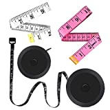 Measuring Tape, Retractable Tape Measure for Body 4 Pack Measurement Tape Ruler Tape for Sewing Tailor Seamstress Mini Tape Measure Black, White and Pink body tape measures May, 2021