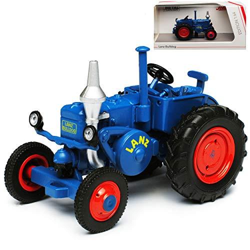 Lanz Bulldog Blau Traktor Landwirtschaft 1/64 Schuco Modell Auto mit individiuellem Wunschkennzeichen