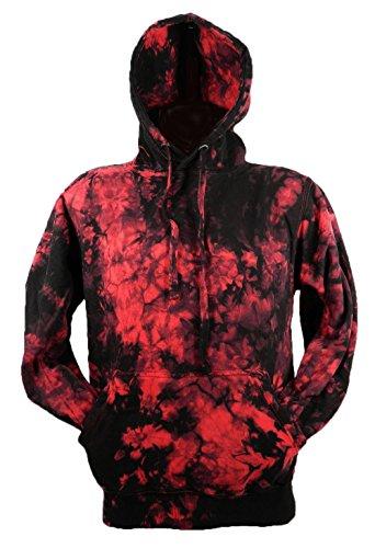 Chameleon Clothing Tie Dye Red Scrunch Batik Hoodie Hood 701824 Hood 006 2XL