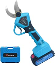 KOMOK Professional Cordless Electric Pruning Shears,2PCS Backup Rechargeable 2Ah Lithium..