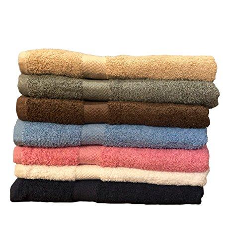 ArtMuseKitsMikash ecotowel ECO Towels 6-Pack Bath Towels - Extra-Absorbent - 100% Cotton - 27 x 54