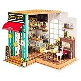 DAMUA Puppenhaus Miniatur-Spielzeug-Haus, DIY Hölzerne Puppe Set, Pädagogisches Spielzeug Für...