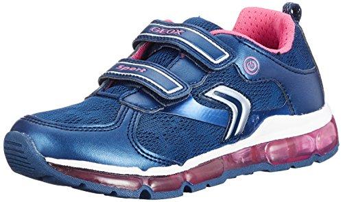 Geox Geox Mädchen J Android Girl A Sneaker, Blau (Navy/Fuchsia), 35 EU