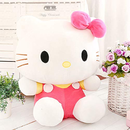 WYSTLDR Hello Kitty Ragdoll Doll Pillow, KT Cat Plush Toy, Hello Kitty Doll, Regalos de San Valentín para niñas, Regalos de año Nuevo para niños Rosa kt35cm