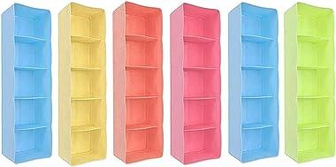 Sprade Plastic Socks Organizers Storage Box for Drawer || Set of 6 Pcs ( Multicolour)