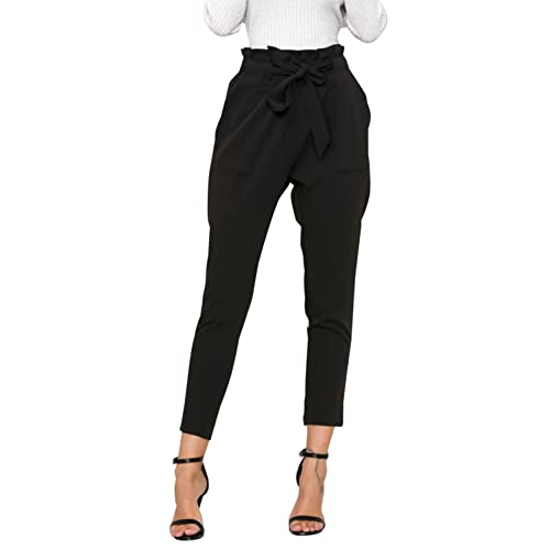 50595d4d41b Simplee Apparel Women s Slim Straight Leg Stretch Casual Pants with Pockets
