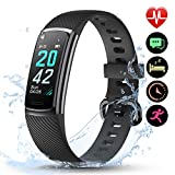 LETSCOM High-End Fitness Trackers HR, IP68 Waterproof Fitness Watch with Heart Rate Monitor