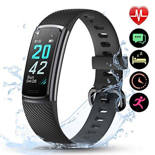 LETSCOM Fitness Trackers with He...
