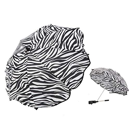 1 unids Bebé Ajustable Trolley Umbrella Rain UV Protection Baby Cradle Stroller Push-Ups Sun Umbrella Parasol Universal Clip (Color : Strip)