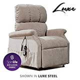 Golden Technologies Comforter PR-505 Infinite Position Zero Gravity Lift Chair Recliner, Luxe Steele, Medium