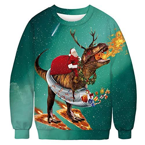 Zaima Hoodies Männer Frauen Lässig Weihnachtsdruck Langarm Sweatshirts Herbst...
