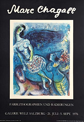 Germanposters Marc Chagall Zirkus 1976 Poster Bild Kunstdruck 69x48cm