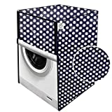 JM Homefurnishings Washing Machine Cover for Siemens 8/5 kg Fully Automatic Front Loading Washer Dryer (WD15G460IN) Polka dot Print