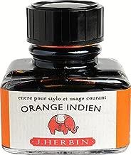 J. Herbin La Perle des Encres Fountain Pen Ink Bottled 30 ml - Orange Indien by J. Herbin
