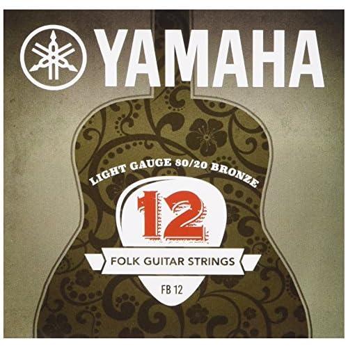 Yamaha FB 12 - Corde per chitarra Western 80/20 super leggere, color bronzo, 1 set