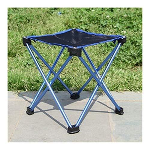 Fengdp Camping Starke Aluminiumlegierung tragbare Mini-Klappstühle Ultra Outdoor-Camping-Hocker for Trekking, Wandern, Grill, Picknick, Reise (Color : Blue)
