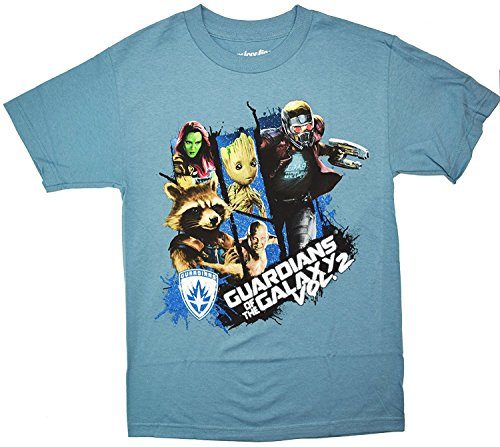 Guardians Of The Galaxy Vol. 2 Group T-shirt (Large, Slate)