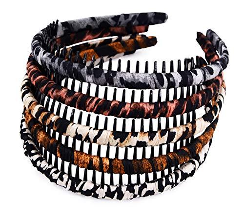 STHUAHE Woman 5PC Multicolor Protection Resin Teeth Comb Hair Hoop Hairband Headband Hair Accessories by Beauty hair (5 Colors)