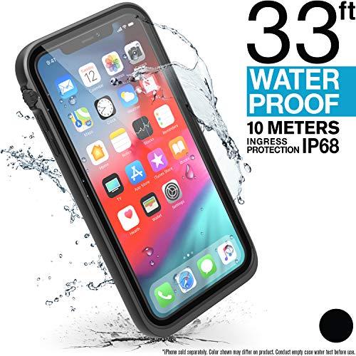 Catalyst wasserdichte Hülle für iPhone XS Max mit Trageband, Stoßfest, Militärische Materialqualität für Wandern, Schwimmen, Abenteuer, Kreuzfahrtschiff-Zubehör - Farbe Schwarz