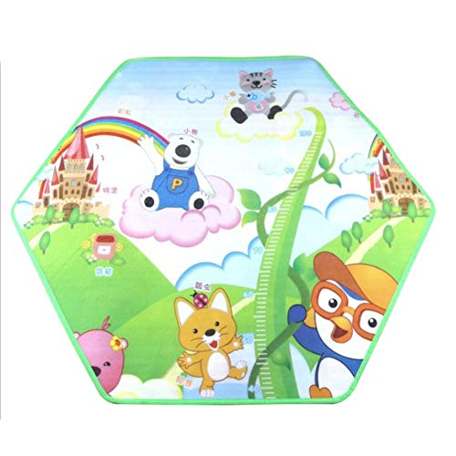 Laufstall Kinder, Laufgitter Faltbar und Tragbar, Laufstall Sechseckig mit Netz, Innen- und Außenspiel für Kinder von 0 bis 4 Jahren Sechseck Teppich Eine Größe