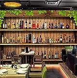 HUATULAI Mural Fond d'écran 3D Photo Moderne Simple Stéréo Cave À Vin Bouteille De Vin Murale Restaurant Café Bar Fond Papier Peint Papel De Parede-400 * 280 Cm