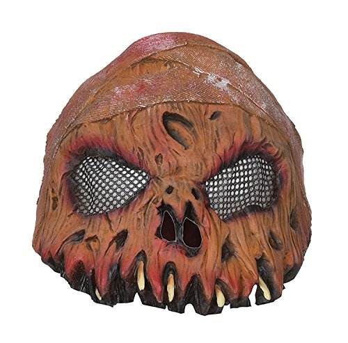 Adults Horror Pumpkin Half Mask Halloween Fancy Dress Accessory