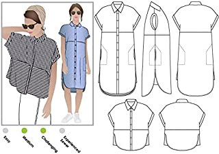 Style Arc Sewing Pattern - Blaire Shirt or Dress (Sizes 18-30) - Click for Other Sizes Available