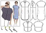 Estilo Arc–patrón de costura para camisa o vestido de Blaire, Sizes 04-16