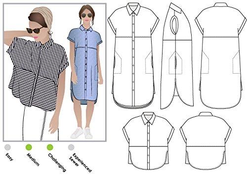 Arc, Schnittmuster - Blaire Hemd oder Kleid, Sizes 04-16