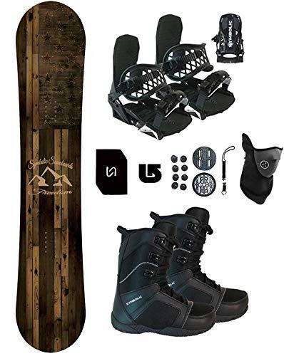 Symbolic Freedom Snowboard & Bindings & Boots +Leash+Stomp+Mask+Burton Decal Package (150cm Hybrid...