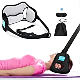 Head Hammock, EKUPUZ Breathable Velvet Cervical Neck Traction Device with Ear Holes, Portable Neck Stretcher with Durable Metal Button & Adjustable Straps for Neck Pain Relief Relaxation