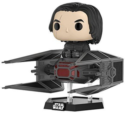 Funko-20154 Star Wars Kylo REN w/Tie Fighter Pop Deluxe,