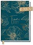 Chäff-Timer Classic A5 Kalender 2020/2021 [Goldblüte] Terminplaner 18 Monate: Juli 2020 bis Dez. 2021 | Wochenkalender, Organizer, Terminkalender mit Wochenplaner - nachhaltig & klimaneutral