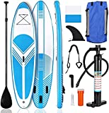 SHKUU Tabla Paddle Surf Inflable Set Tabla Paddleboard 10 pies con Accesorios Primera Calidad para Sup Mochila Cubierta Antideslizante