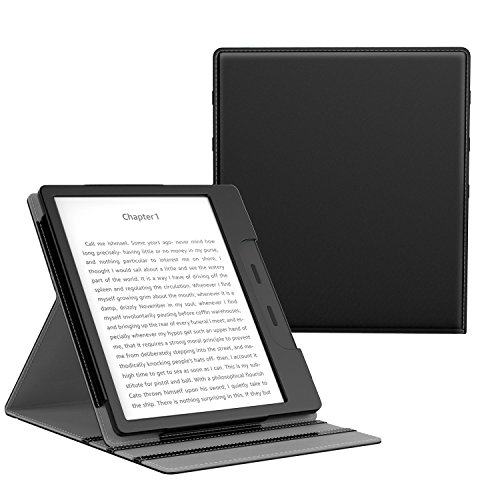 MoKo Case Fits All-New Kindle Oasis (9th and 10th Generation ONLY, 2017 and 2019 Release), Multi Angle Viewing Vertical…
