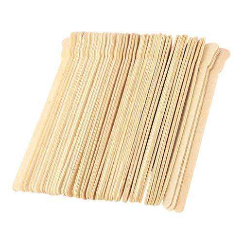 STOBOK 100pcs cera se pega espátulas madera cera