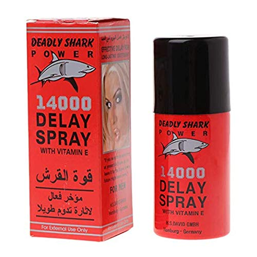 Deadly Shark 14000 DELAY SPRAY FOR MEN WITH VITAMIN E (And) The Punisher Pill (Super Como) Get Hard Stay Hard Plus Love Potion Pen