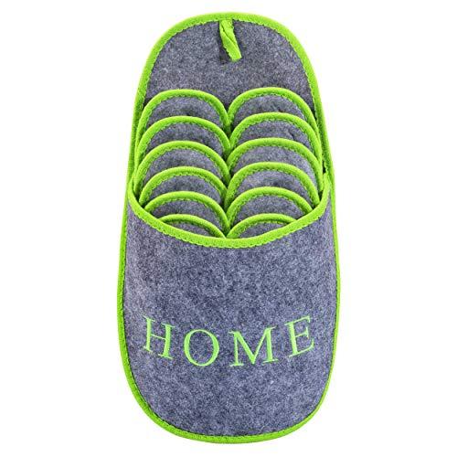 ONVAYA Zapatillas de huéspedes antideslizantes | conjunto de 6 | Zapatilla de fieltro |