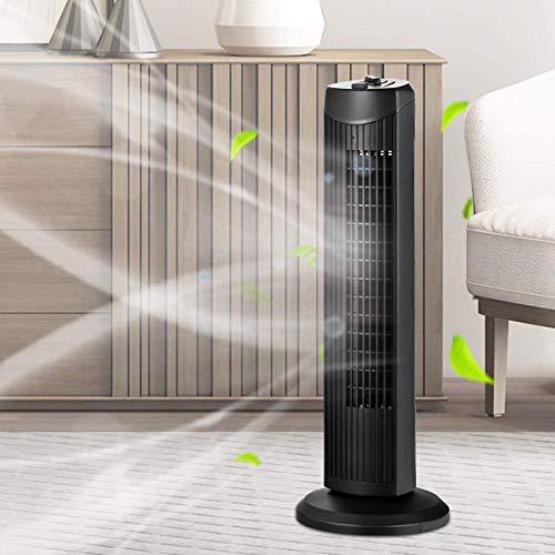 DREAMADE Turmventilator, Ventilator Turmventilator mit 3 Geschwindigkeitsstufen, Standventilator Säulenventilator mit 60° Oszillation /45W/geräuscharm/Luftzirkulation/schwarz