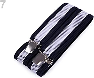1pc 7 Very Light Grey Dark Blue Trouser Braces/Suspenders Width 3.5 cm Length 120 cm, and Other Accessories, Fashion
