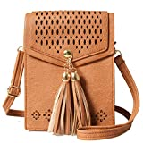 LassZone Women Leather Cross Body Bags Wallet Luxury Matte Leather Phone Purse Small Shoulder Bags with Strap