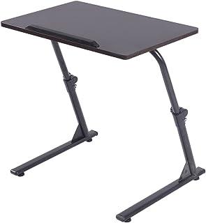 Soges サイドテーブル デスク 折りたたみ式 角度・高さ無段階調節可能 S1-2BK-NEW2