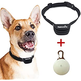 Nakosite PET2433 Best Anti Bark Dog Collar, Stop dogs barking Collar. Uses audible Sound and Vibration. NO SHOCK. Advanced Chip with 7 Sensitivity Adjustable Levels. Flexible and Adjustable Nylon Neck Strap for Small Medium and Large Dogs. Colour is black.