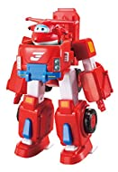 Super Wings - Deluxe Transforming Vehicle | Series 2 | Jett | Plane and Bot Vehicle Set | Includes 2...
