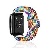 Rosok Woven Nylon Armband Kompatibel mit HUAWEI WATCH FIT, für Damen Herren Einstellbare und Elastizität Atmungsaktive Sportbänder für HUAWEI WATCH FIT - Regenbogenfarbe