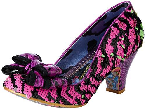 Irregular Choice Damen Lady Ban Joe Pumps, (Green/Pink O), 7.5 EU
