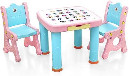 Ffion Activity Desk Chair Set, Ergonomisch Einstellbar Speziell Für Kinder Alter 1-6 (Rosa, Blau)