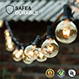 Guddl Globe String Lights G40 UL Listed for Indoor/Outdoor Commercial Decor (3 size)