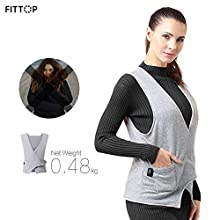 FITTOP Heated Vest Rechargeable Constant Temperature 5V/2A USB Powered Charging Waist Coat Unisex Protect Waist and Shoulder
